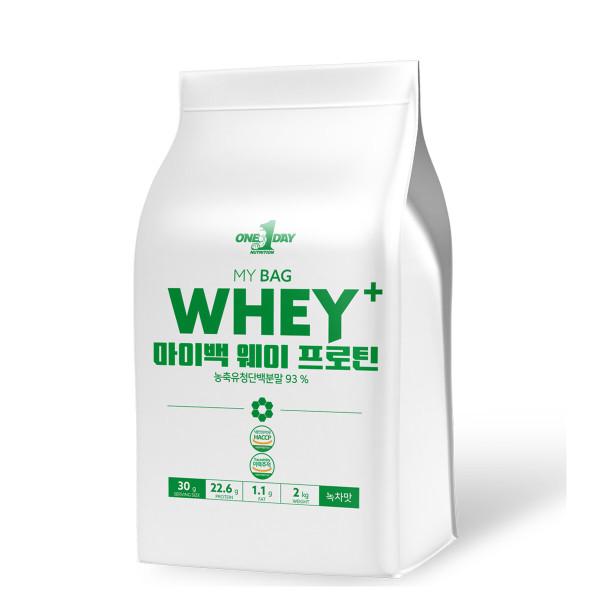 단백질 헬스보충제 웨이프로틴 포대유청 wpc녹차맛 2kg 상품이미지