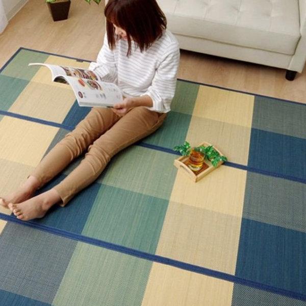 이케히코 대자리 대나무돗자리 거실 여름 카페트 러그 상품이미지