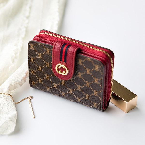 여성 반지갑 카드 동전 여자 지퍼 지갑 명품지갑 W743 상품이미지