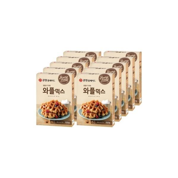 (박스특가/10개입) 큐원 와플믹스 한박스 (와플팬용) (1358085) 상품이미지