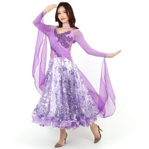 (모던댄스복 1000) 모던댄스복 드레스 댄스스포츠복 상품이미지