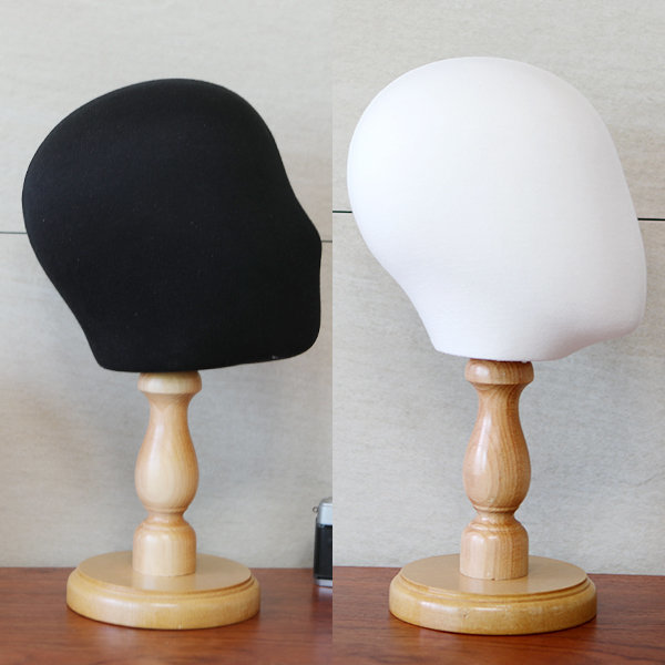 두상마네킹 블랙 화이트 얼굴 머리 마네킨 모자거치대 상품이미지