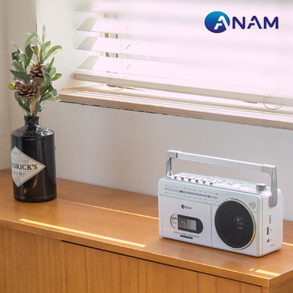 아남 블루투스 라디오 카세트 PA-720BT 화이트 상품이미지