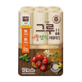 키친타올 120매 12롤 식품용인증/무표백 cr-B400