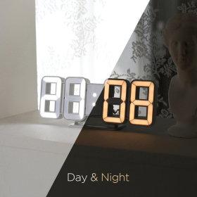퓨어 듀얼 미니 LED시계 (화이트+화이트골드)