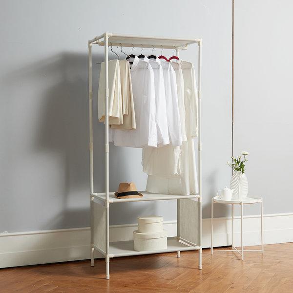 MF무볼트 드레스룸 싱글행거 옷걸이 조립식옷장 상품이미지