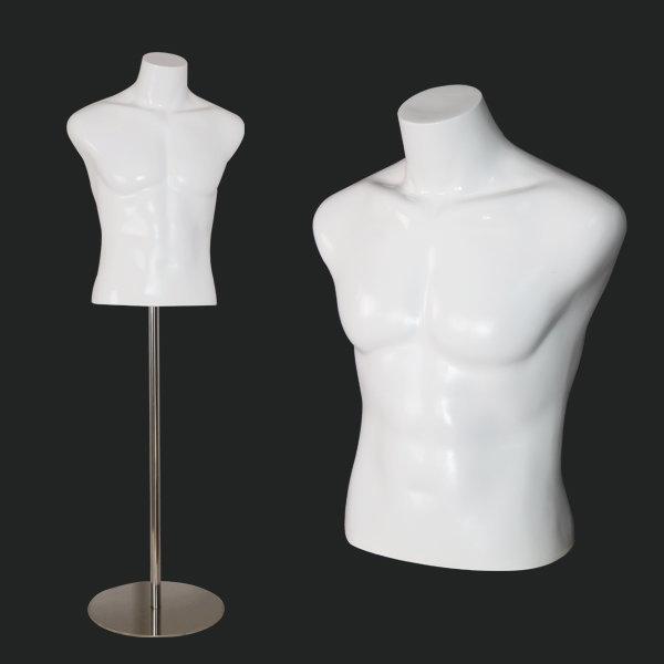 frp 남성 상반신 근육 마네킹 스탠드형 몸통 단품 상품이미지