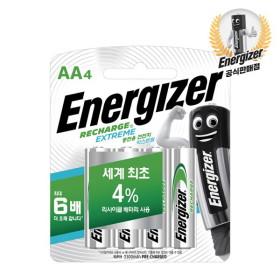 [에너자이저] 충전용 건전지/충전지 AA 4입