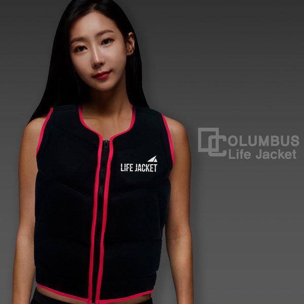 콜럼버스 블랙라벨No.2_S(핑크) 구명조끼/라이프자켓 상품이미지