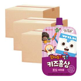핑크퐁 키즈홍삼 포도야채 100ml 10입 3박스 + 증정