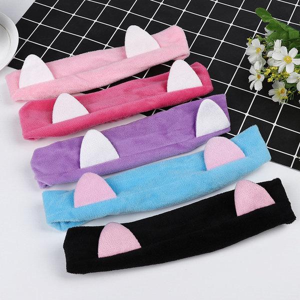 고양이 세안밴드 헤어밴드 세면용품 세수머리띠 샤워 상품이미지