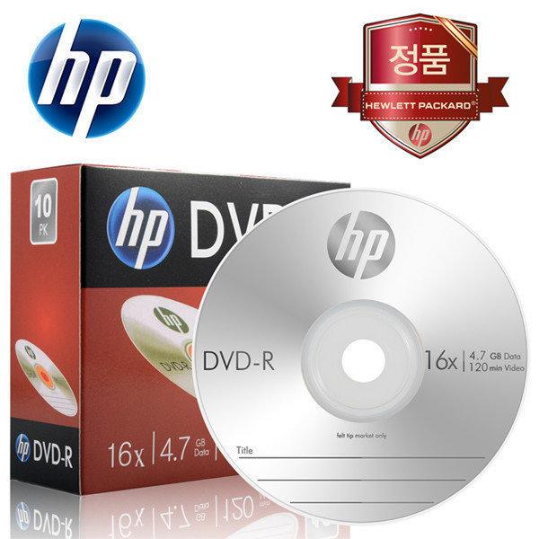HP DVD-R 1P 슬림케이스 10장 4.7GB 16배속 공DVD 상품이미지