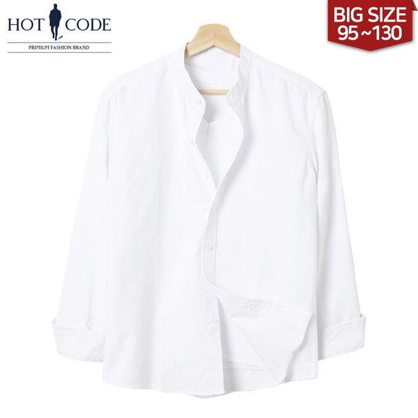 남자 차이나 카라 셔츠 빅사이즈 화이트 옷 행사 HC331 상품이미지