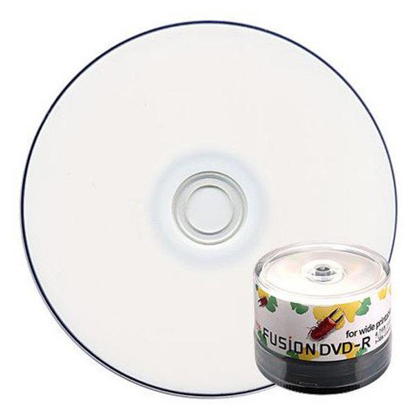 16배속 4.7GB DVD-R 와이드 프린터블 50장 공CD/공DVD 상품이미지