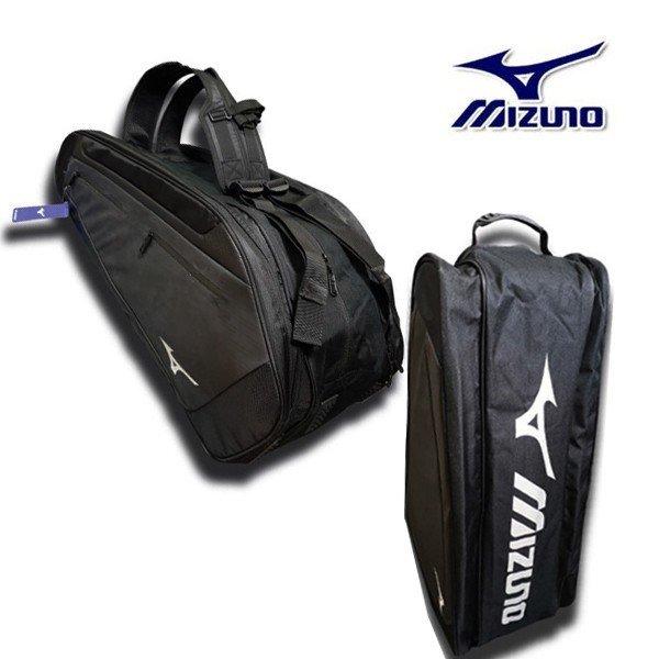 미즈노 3단 배드민턴 가방 백팩 블랙 상품이미지