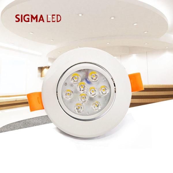 할로겐 대체 매입등 /LED mr일체형 7W 직하형 크롬 상품이미지