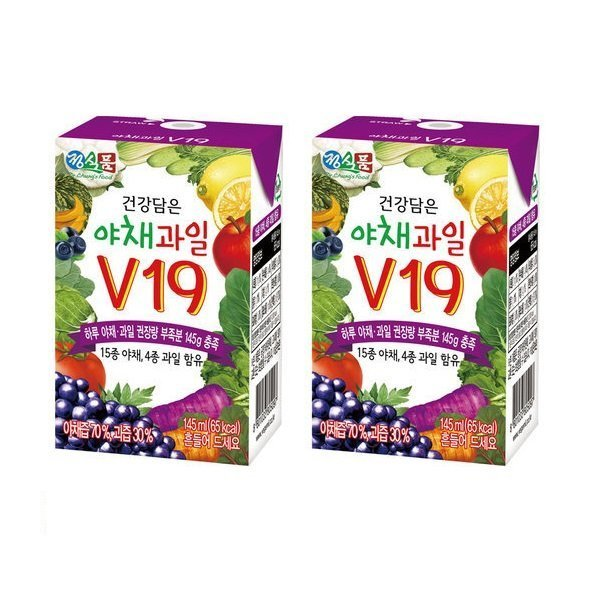 베지밀 건강담은 야채과일 V19 145ml 24팩 상품이미지