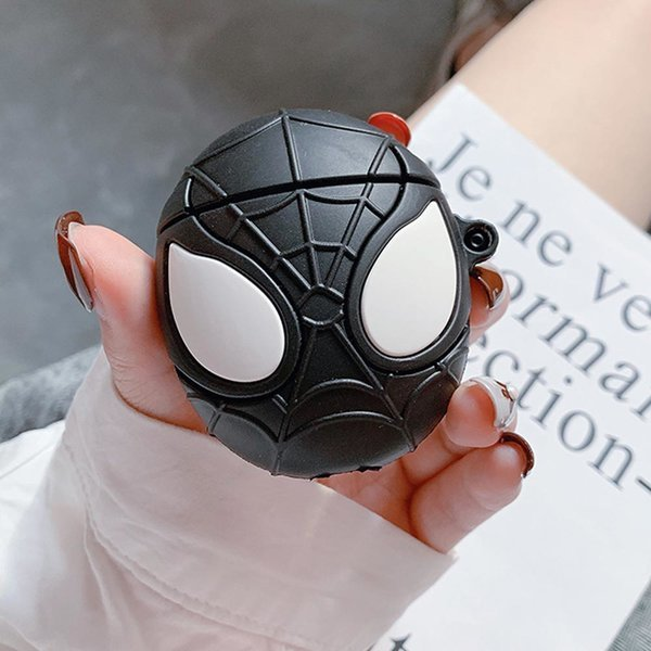 에어팟 1/2 거미 캐릭터 동글이 실리콘케이스 183블랙 상품이미지