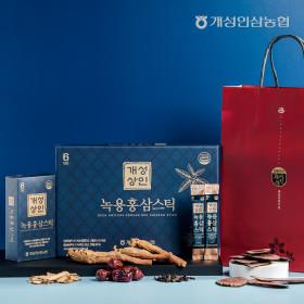 개성상인 녹용홍삼스틱 10ml 30포 /쇼핑백 증정