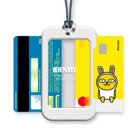 카드목걸이 카드지갑 목걸이카드지갑 화이트+네이비