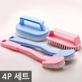 SM 제일 솔세트 4P / 욕실 화장실 변기 바닥 청소솔