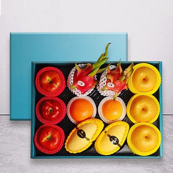 VIP명품황실선물세트 사과3+배3+망고2+용과2+오렌지2/부직포가방 상품이미지