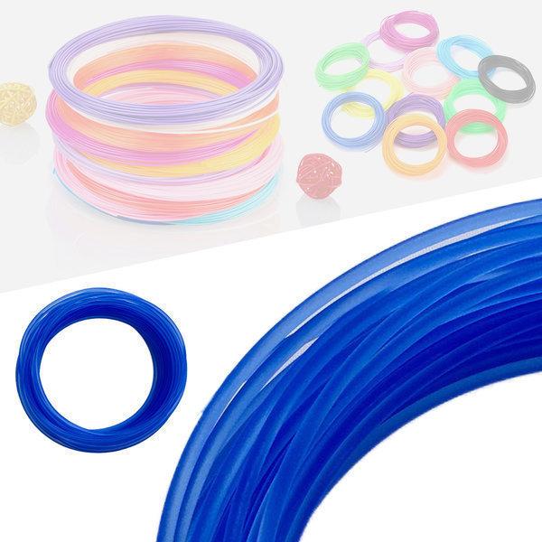 3D펜 필라멘트 40색 10M PLA 1.75mm 반투명 블루 상품이미지