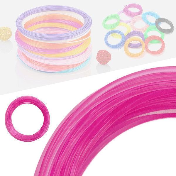 3D펜 필라멘트 40색 10M PLA 1.75mm 반투명 핑크 상품이미지