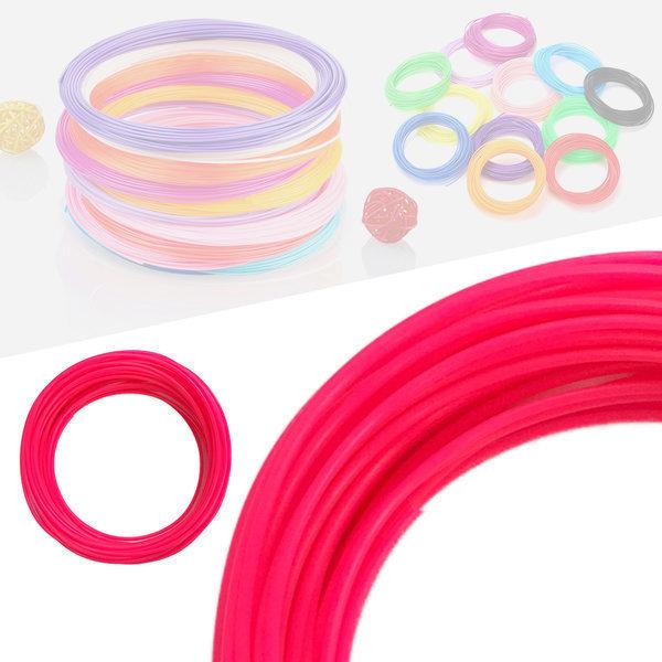 3D펜 필라멘트 40색 10M PLA 1.75mm 형광색상 핑크 상품이미지