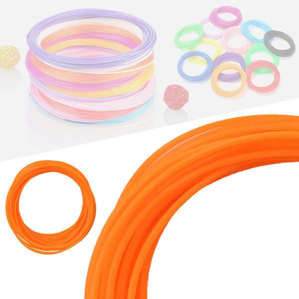 3D펜 필라멘트 40색 10M PLA 1.75mm 형광색상 오렌지 상품이미지