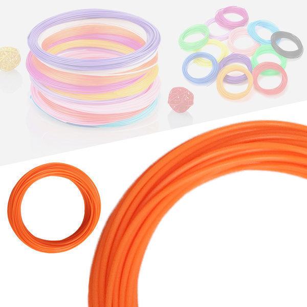 3D펜 필라멘트 40색 10M PLA 1.75mm 기본색상 오렌지 상품이미지