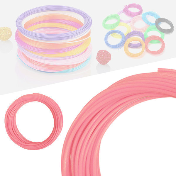 3D펜 필라멘트 40색 10M PLA 1.75mm 기본색상 핑크 상품이미지