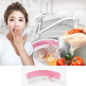 싱크대 음식물쓰레기통 매직홀더 (핑크) 주방용품