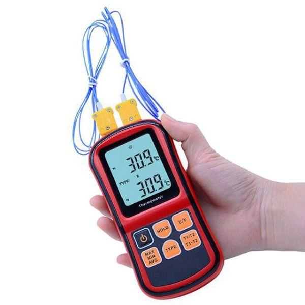 2채널 접촉식 디지털온도계 GM1312 상품이미지