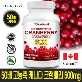 50배 농축 캐나다 크랜베리 120캡슐 4개월 캐나다생산