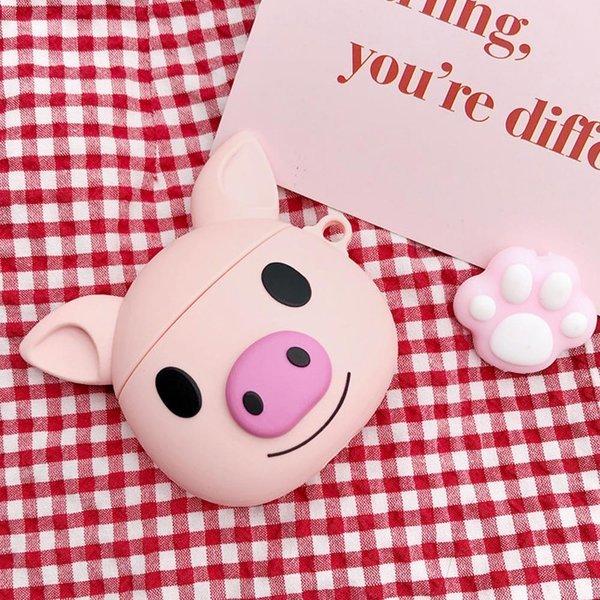 에어팟 1/2 핑크 돼지 캐릭터 실리콘/젤리케이스 212 상품이미지