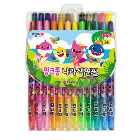 NEW 핑크퐁 색연필 24색 세트