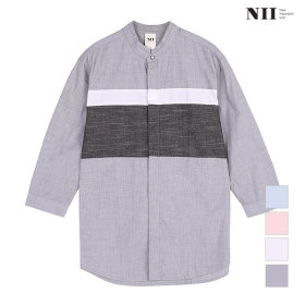 NII 남성 삼색배색 7부 셔츠_2NNXNLTM2266