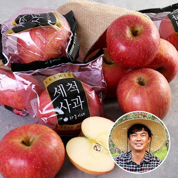 산지장터 경북 안동 김권수님의 세척사과 3kg 18과내 x 2박스 총6kg 상품이미지