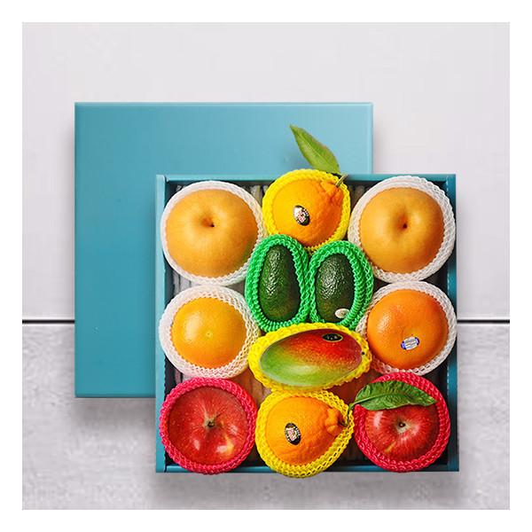 누리원  명작 과일선물세트(사과2+배2+자몽2+아보카도2+용과2+망고1) 상품이미지