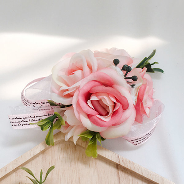 꽃팔찌 핑크블라썸 팔찌 셀프 웨딩 촬영소품 브라이덜 상품이미지