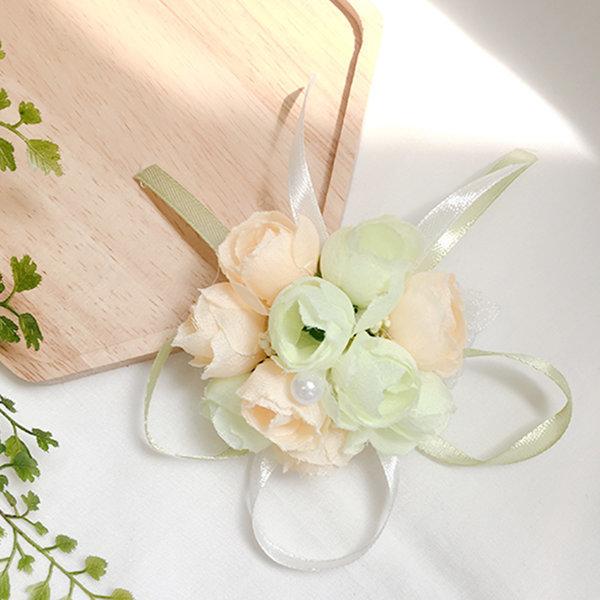 꽃팔찌 방울샴페인 팔찌 셀프 웨딩 촬영소품 브라이덜 상품이미지