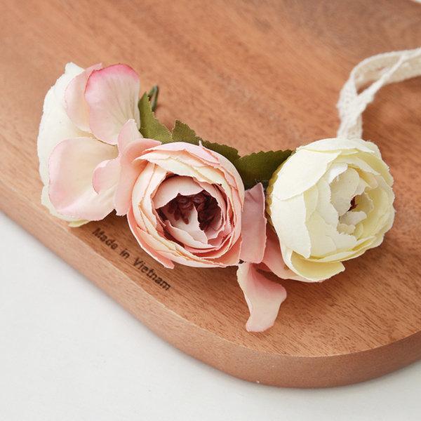 꽃팔찌 로즈샴페인 팔찌 셀프 웨딩 촬영소품 브라이덜 상품이미지