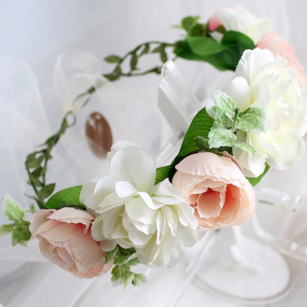 웨딩 화관 로맨틱로즈 셀프웨딩소품 꽃 브라이덜샤워 상품이미지