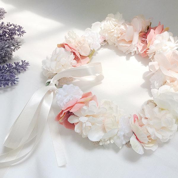 웨딩 화관 러브미 셀프웨딩소품 조화 꽃 브라이덜샤워 상품이미지