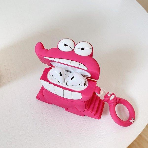에어팟 1/2 귀여운 캐릭터 키링 케이스165 공룡분홍색 상품이미지