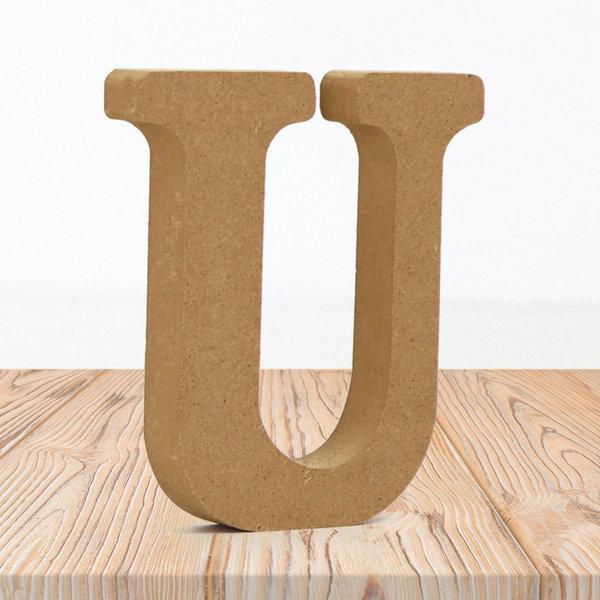 우드 내추럴 알파벳 U 홈 카페 인테리어 소품 DIY 상품이미지