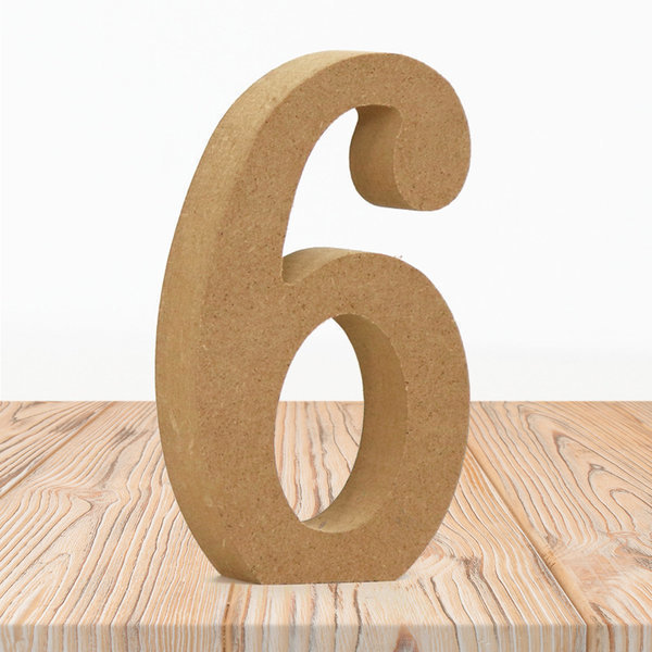 우드 내추럴 숫자 6 홈 카페 인테리어 소품 DIY 상품이미지