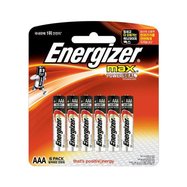 에너자이저 에너자이저  맥스 건전지 AAA 6+6개입 상품이미지
