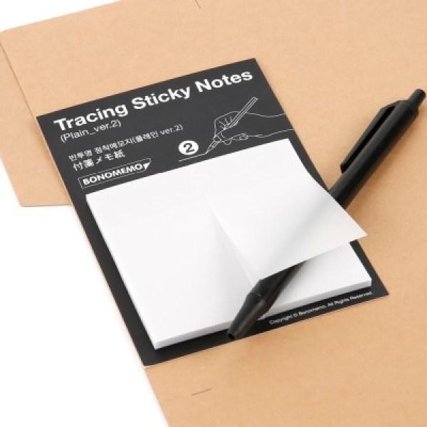 Tracing Sticky Notes-Plain ver.2(반투명 점착메모지-플레인 ver.2) 상품이미지